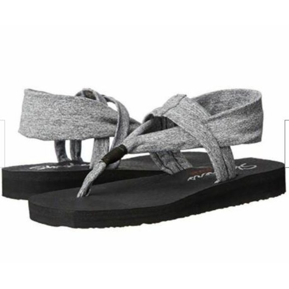 Skechers Meditation Studio Kicks 38615 Grey Womens Sandals 10 US
